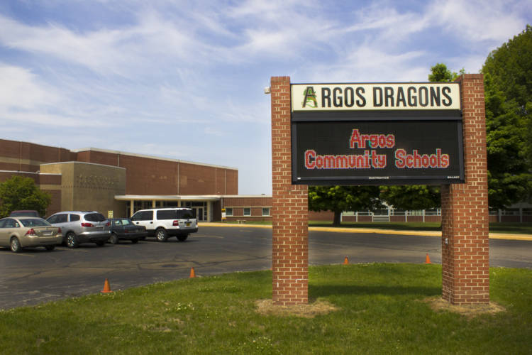 Like rural districts across Indiana, dropping enrollment in Argos Community Schools means less money for the district. As officials look toward the future, they're nervous about what comes next. (Peter Balonon-Rosen/IPB News)