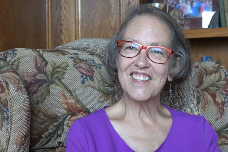 Mary Kay Tarbell discusses her Alzheimer's diagnosis. (Jill Sheridan/IPB News)