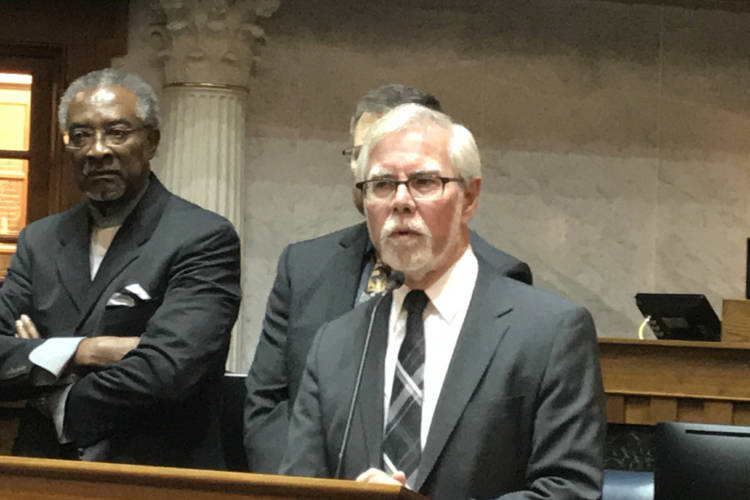 Sen. Tim Lanane (D-Anderson) says the public deserves to hear debate in the legislature on issues like raising the minimum wage and redistricting reform. (Brandon Smith/IPB News)