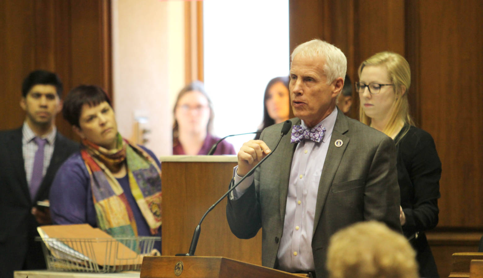 Rep. Bob Behning (R-Indianapolis) speaks in the Indiana House. (Lauren Chapman/IPB News)