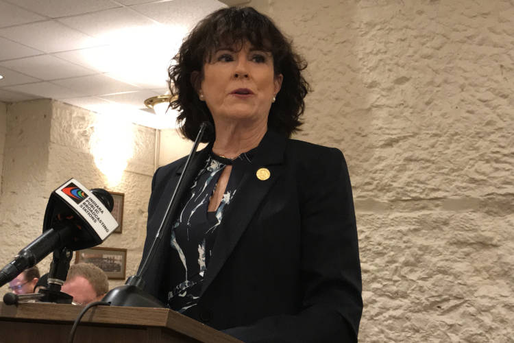 Rep. Sally Siegrist (R-West Lafayette) says she wants to make it easier to charge people with human trafficking crimes. (Brandon Smith/IPB News)