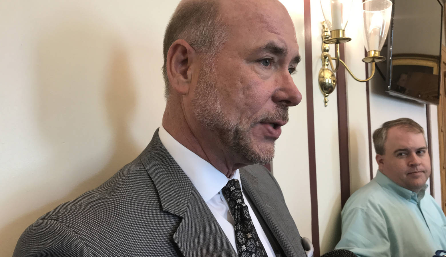 House Speaker Brian Bosma (R-Indianapolis) says he's not sure hate crimes need to be studied further. (Brandon Smith/IPB News)