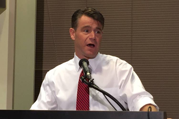 U.S. Sen. Todd Young (R-Ind.) says he pushes his Congressional colleagues to use evidence-based decisions when it comes to policy making. (Brandon Smith/IPB News)