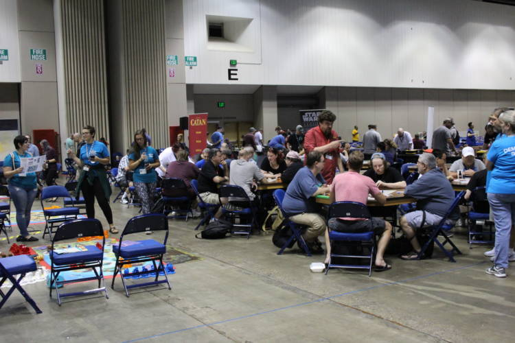 Table top game enthusiasts gather at the Indiana Convention Center. (Samantha Horton/IPB News)
