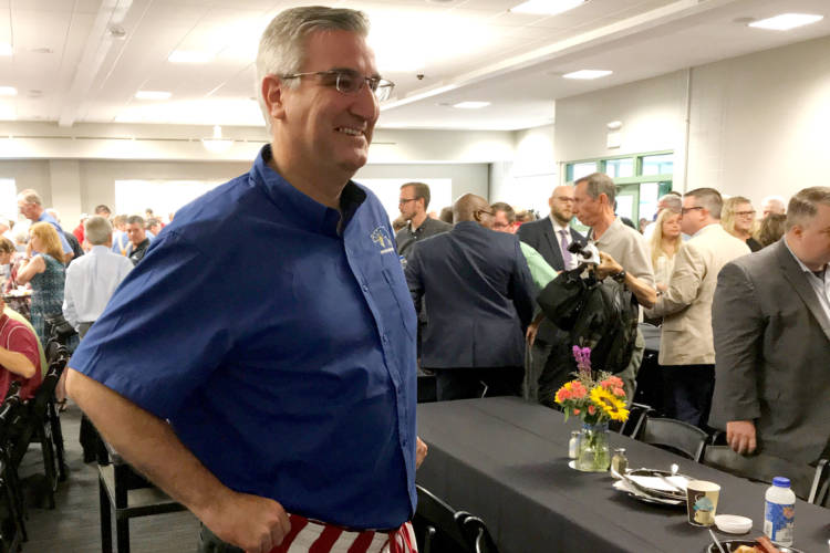 """Gov. Eric Holcomb says the key to push the measure over the finish line is to """"change hearts and minds"""" in the legislature. (Brandon Smith/IPB News)"""