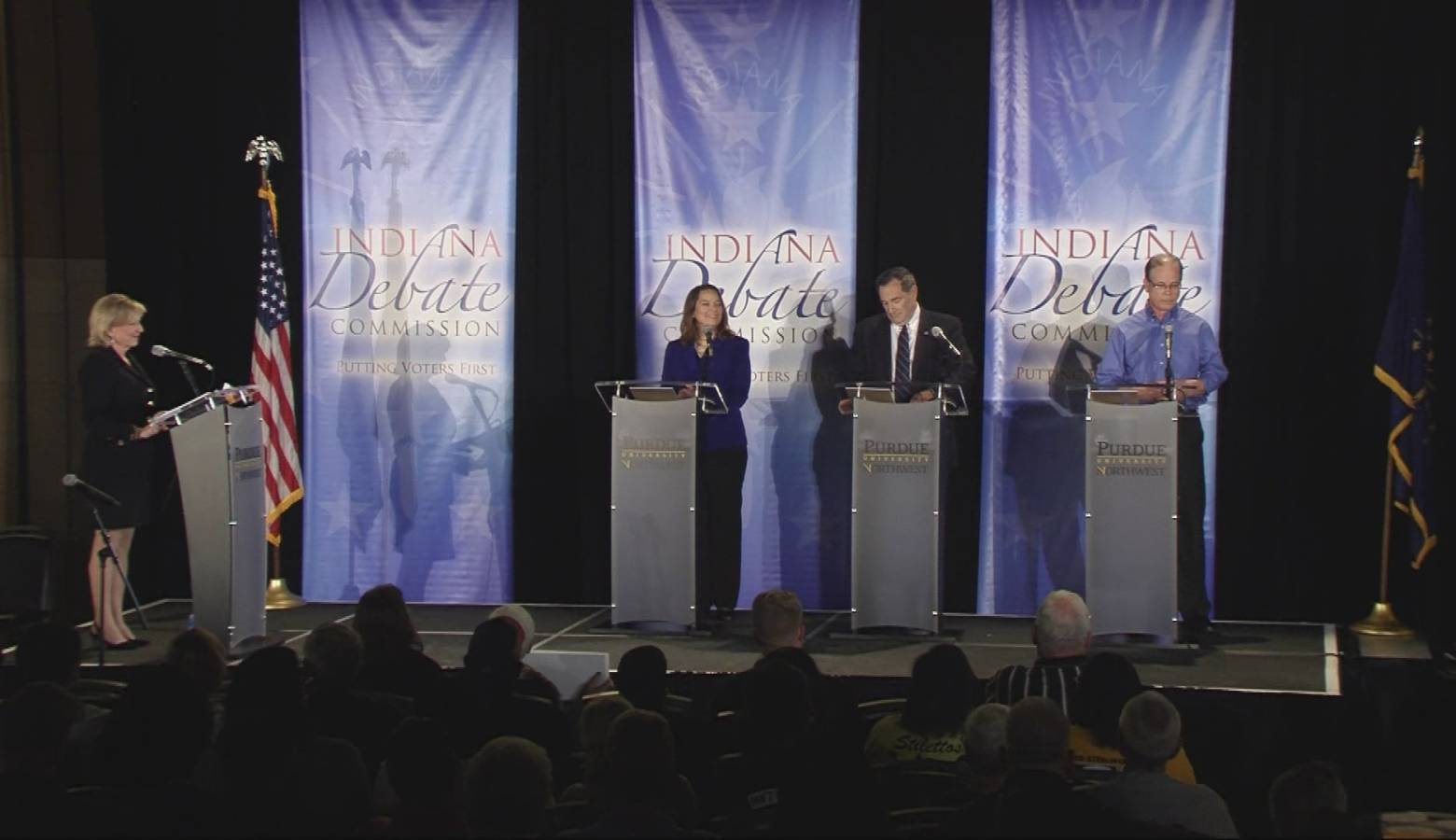 U.S. Senate candidates for Indiana debate on Oct. 8. (Courtesy of the Indiana Debate Commission)