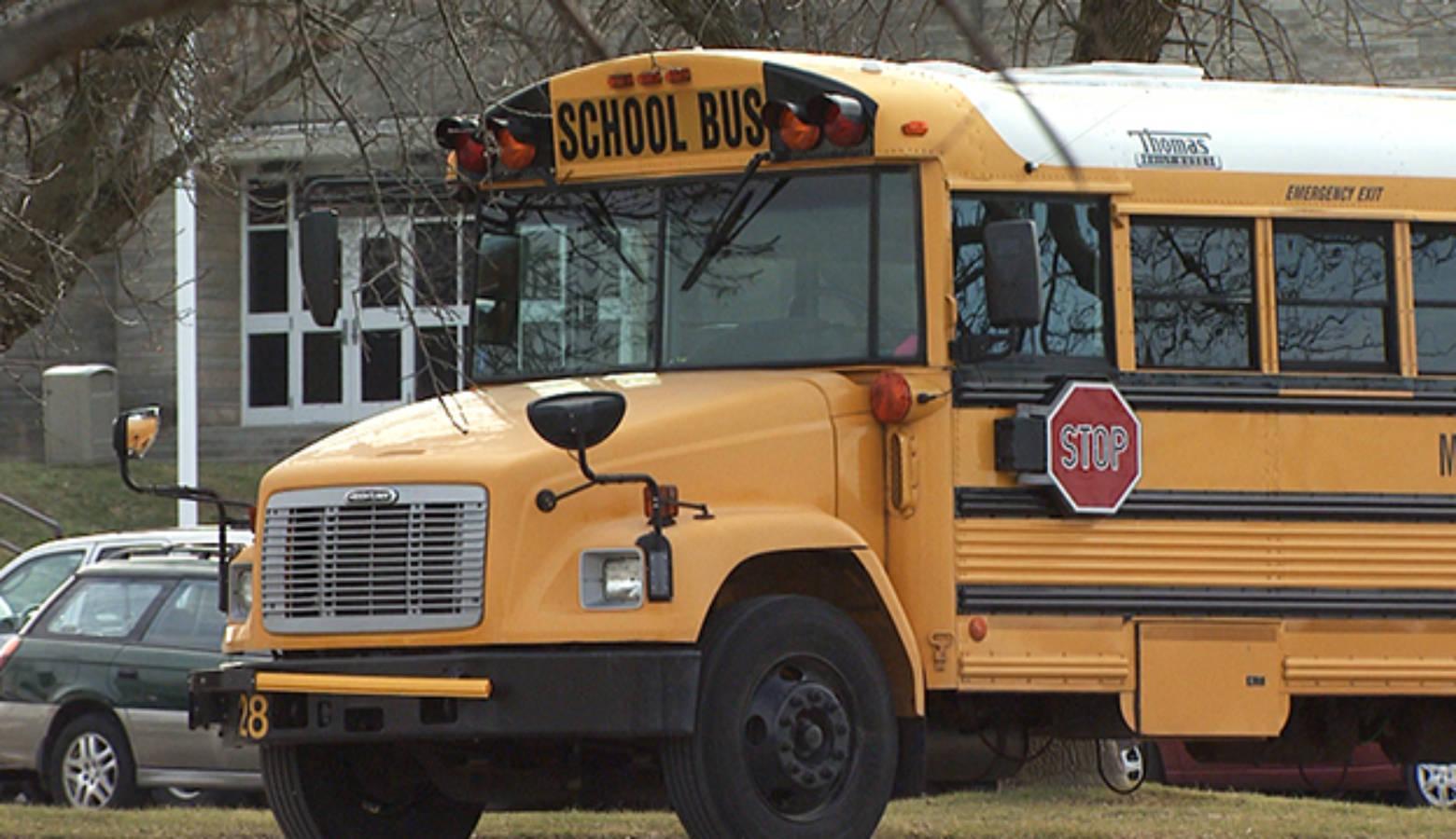 Monroe County Schools Corporation school bus. (WFIU/WTIU)