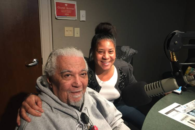 "Earl Robinson and his daughter Rebecca Robinson were co-producers for ""The Color of Medicine."" The documentary will premiere in Indianapolis this month. (Jill Sheridan/IPB News)"