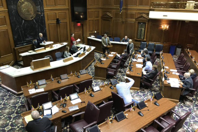 The Alcohol Code Revision Commission unanimously recommends a ballot referendum system for any community that wants to increase its alcohol permit quota. (Brandon Smith/IPB News)
