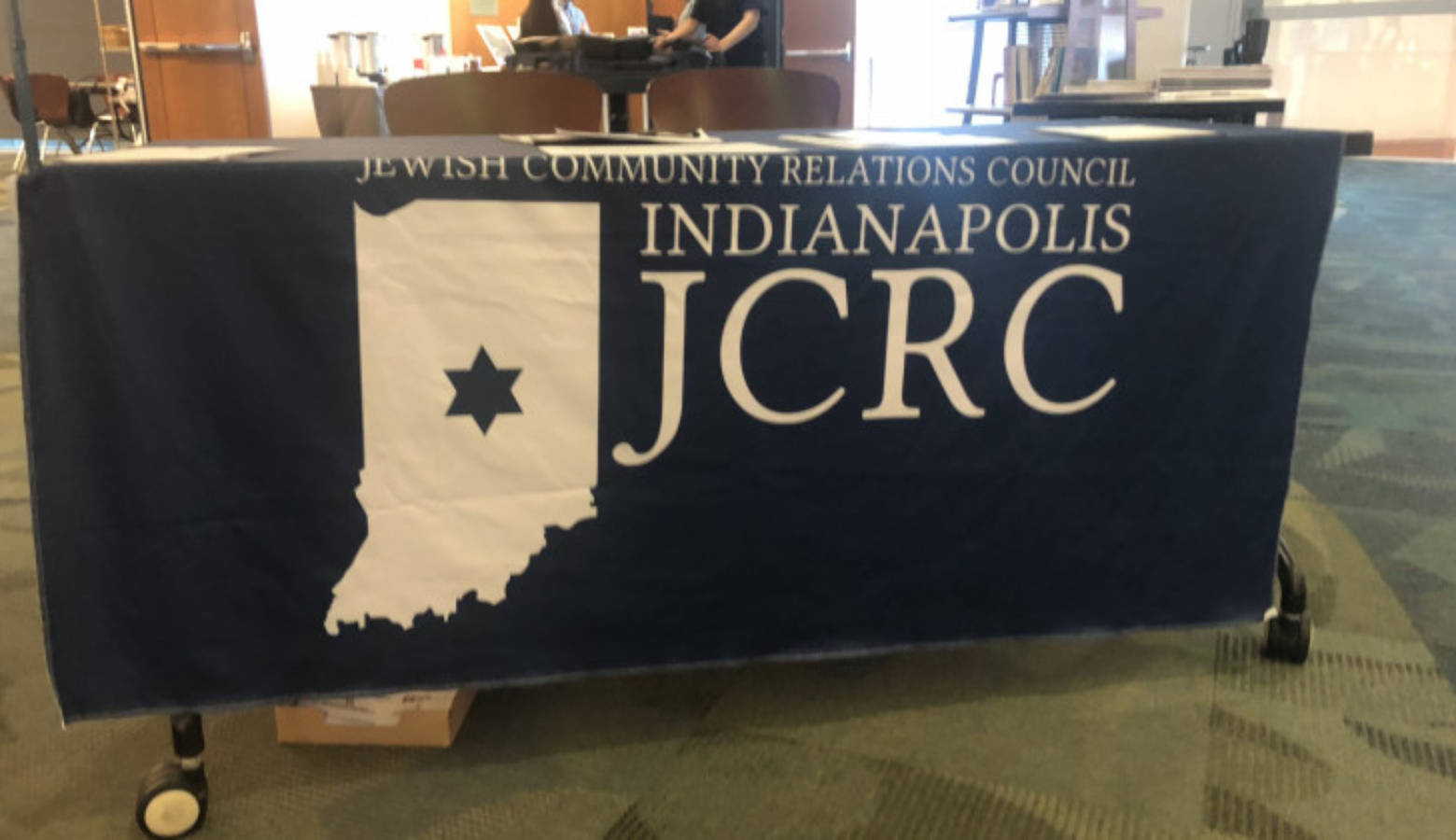 The Indianapolis Jewish Community Relations Council hosted the symposium on anti-Semitism in the Indianapolis Central Library.