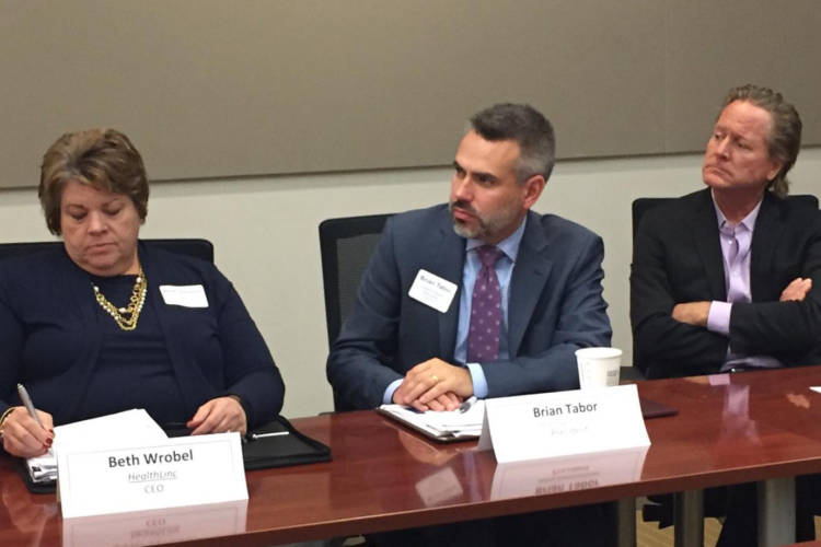 Indiana health leaders join a Medicaid roundtable. (Jill Sheridan/IPB News)