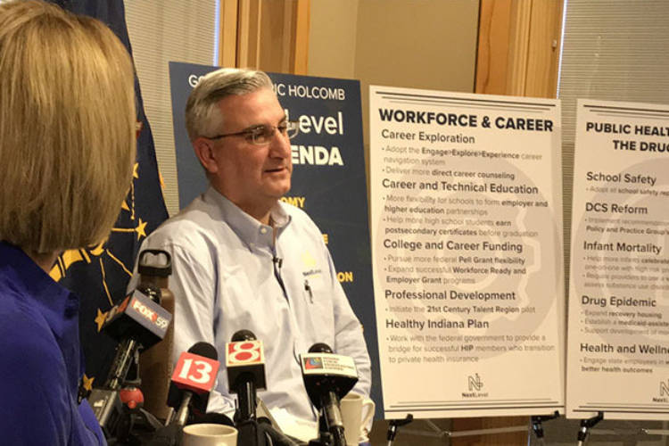 While unveiling his 2019 legislative agenda last week, Gov. Eric Holcomb said the teacher pay increase may need to wait until 2021. On Wednesday, he said he's calling for an increase in K-12 funding that could be used by school districts to increase teacher pay in the short term.