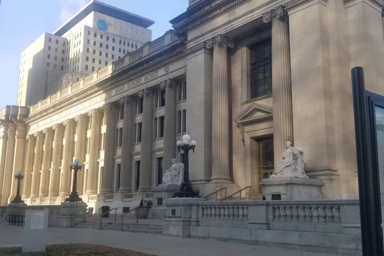 USA Gymnastics had its first bankruptcy court appearance at Birch Bayh Federal Building & U.S. Courthouse since filing for Chapter 11 last week. (Samantha Horton/IPB News)