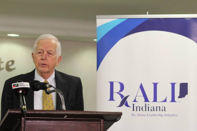 Indiana's drug czar Jim McClelland announces a new $50,000 grant to address the opioid epidemic. (Samantha Horton/IPB News)