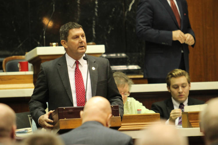 Rep. Jim Lucas (R-Seymour) says there's hypocrisy in the Indiana Chamber's position on medical marijuana. (Lauren Chapman/IPB News)