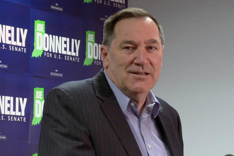 Sen. Joe Donnelly (D-Ind.) sounded warning bells for America's future in his final floor speech (Lauren Chapman/IPB News)