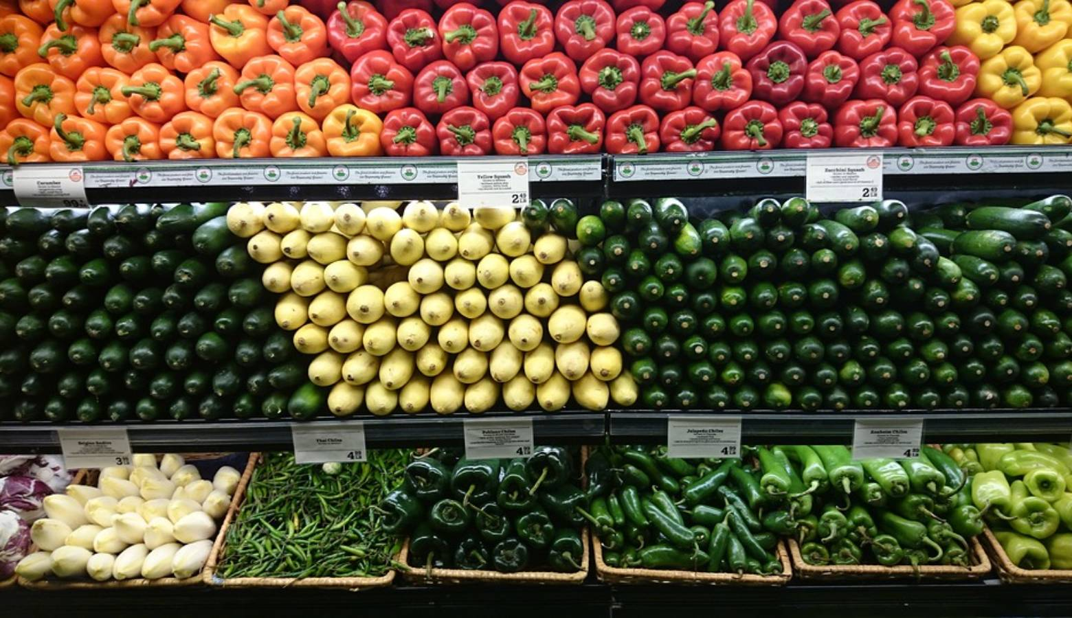 Food Shelf Vegetables Supermarket