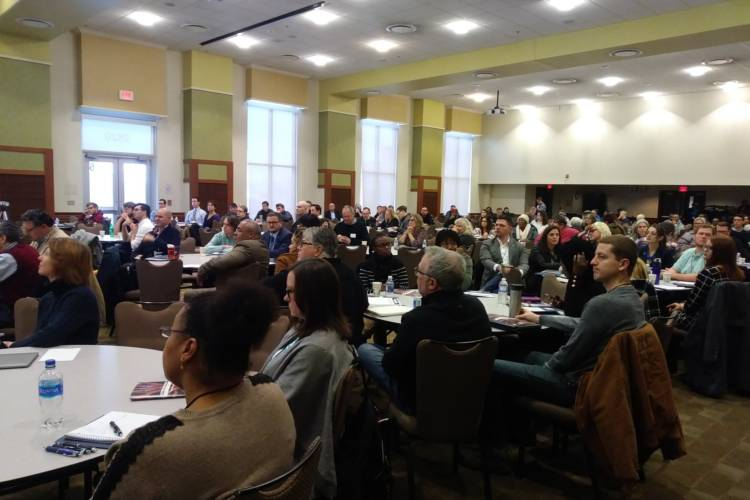 Prospective Democratic candidates for municipal races across the state gathered in Indianapolis Saturday for candidate bootcamp. (Lauren Chapman/IPB News)