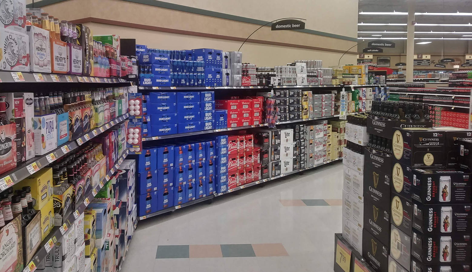 Some considered provisions affect grocery stores: clerks would have to be at least 21 years old and go through training to ring up alcohol. And the stores would have to keep all their alcohol confined to one area. (Lauren Chapman/IPB News)