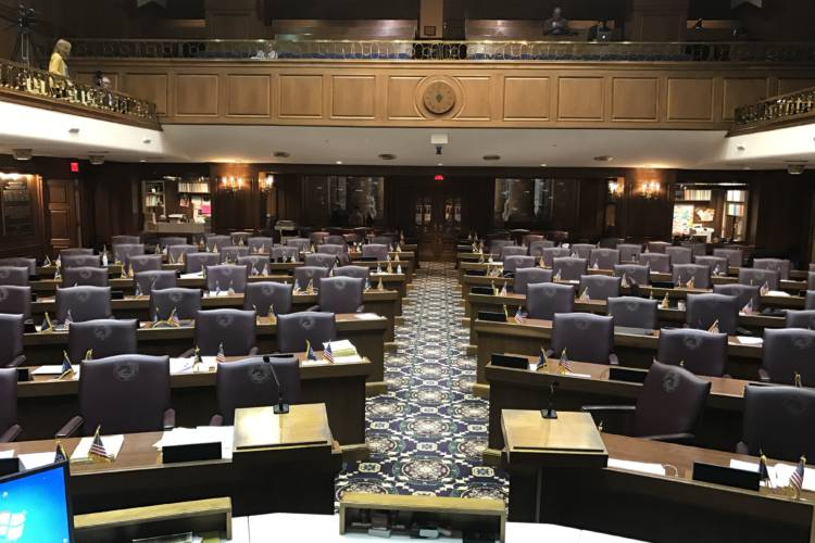 """The Indiana House approved legislation whose author says will, as he puts it, """"ease the pressure"""" on overcrowded jails. (Brandon Smith/IPB News)"""