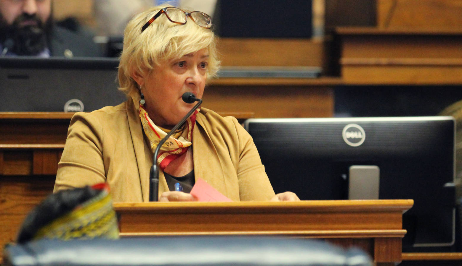 Sen. Karen Tallian (D-Ogden Dunes) says her bill doesn't impact those who rent out their homes for 15 days a year or less. (Lauren Chapman/IPB News)