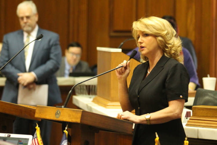 "Rep. Karlee Macer (D-Indianapolis) says a bill to tighten control of the Military Family Relief Fund is a ""good first step."" (Lauren Chapman/IPB News)"