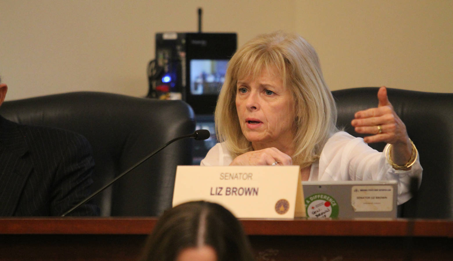 Sen. Liz Brown's (R-Fort Wayne) bill would expand the list of health care providers who can refuse to perform or assist in abortions. (Lauren Chapman/IPB News)