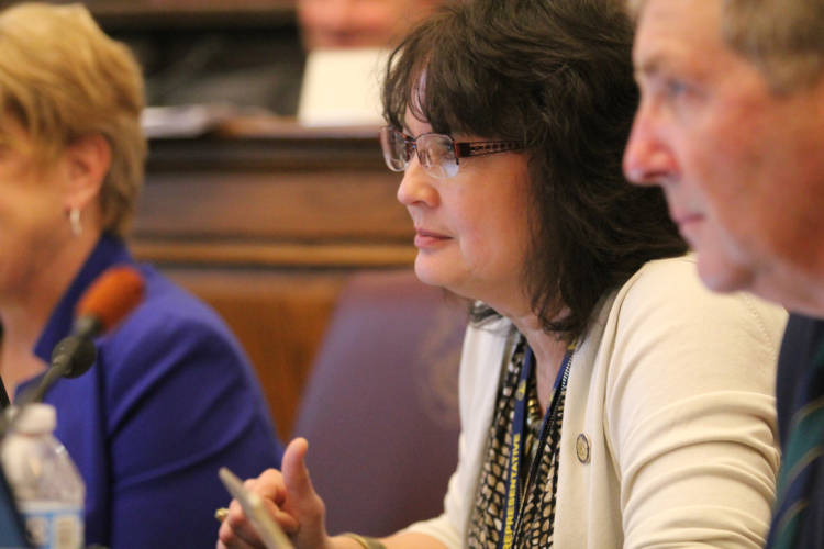 Rep. Peggy Mayfield (R-Martinsville) is the author of a bill that largely bans a second trimester abortion procedure. (Lauren Chapman/IPB News)