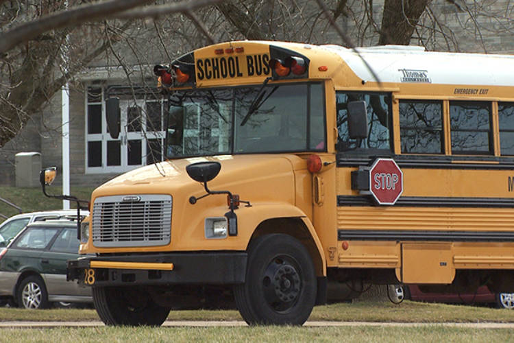 Monroe County Schools Corporation school bus. (WFIU/WTIU)