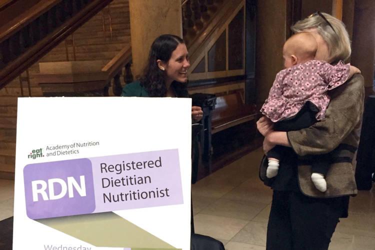 Dietitians meet at the Indiana Statehouse. (Jill Sheridan/IPB News)