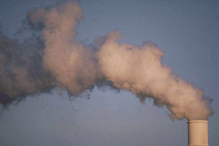 Air pollution smoke rising from plant tower (U.S. Fish and Wildlife Service)