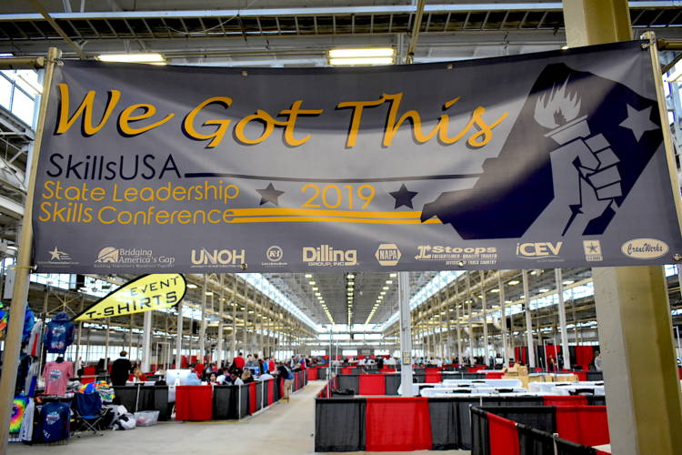 The SkillsUSA competition at the Indiana State Fairgrounds on April 20, 2019. (Justin Hicks/IPB News)