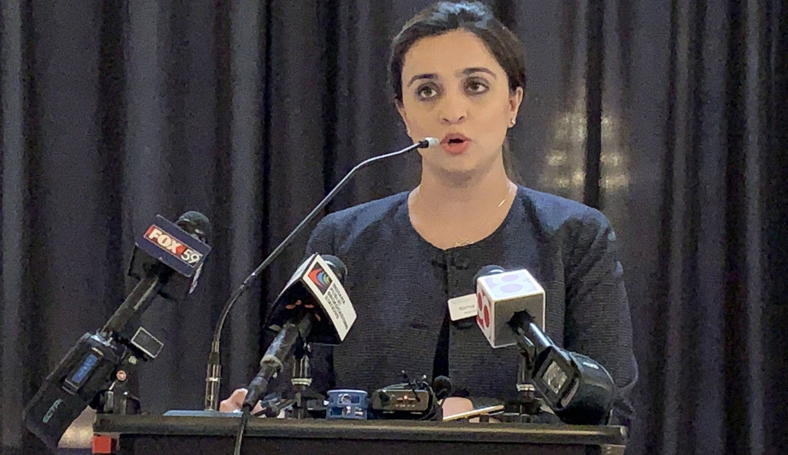 Women4Change Indiana executive director Rima Shahid says leaving sex and gender out of hate crimes legislation is particularly harmful. (Brandon Smith/IPB News)