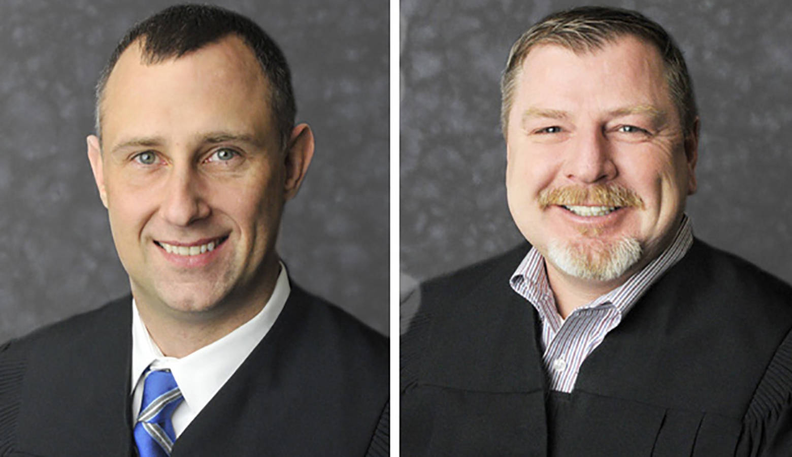 Judge Bradley Jacobs and Judge Andrew Adams were visiting Indianapolis for a judicial education conference. (Provided by the Indiana Supreme Court)