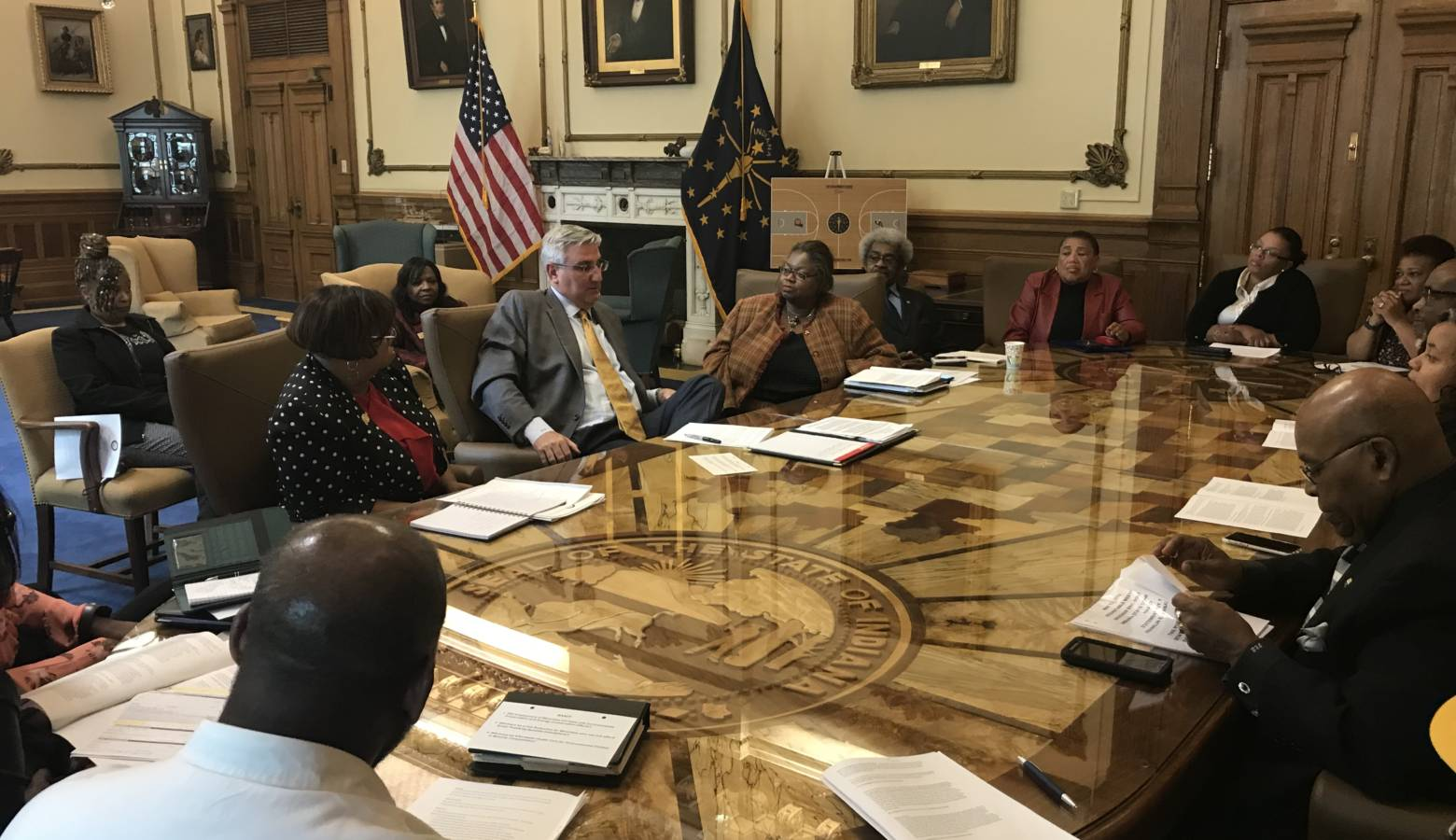 Governor Eric Holcomb met with members of the Indiana NAACP for a roundtable discussion on Monday (Provided by Indiana NAACP)