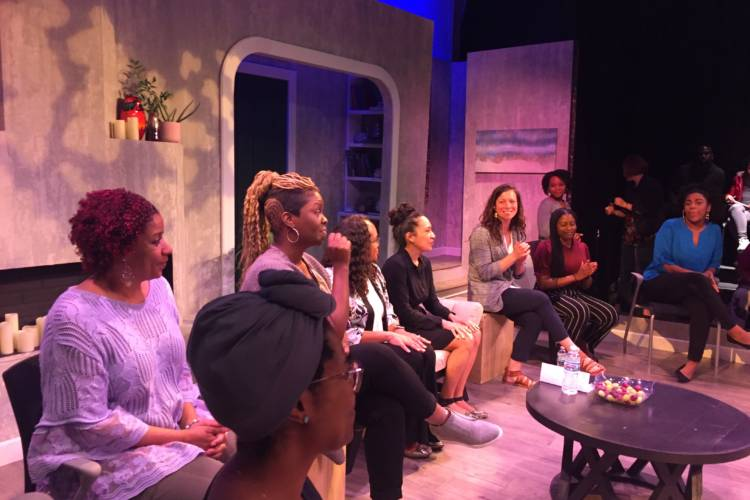 Actors, community members and researchers joined a talk-back after the performance of One Blood. (Jill Sheridan/IPB News)