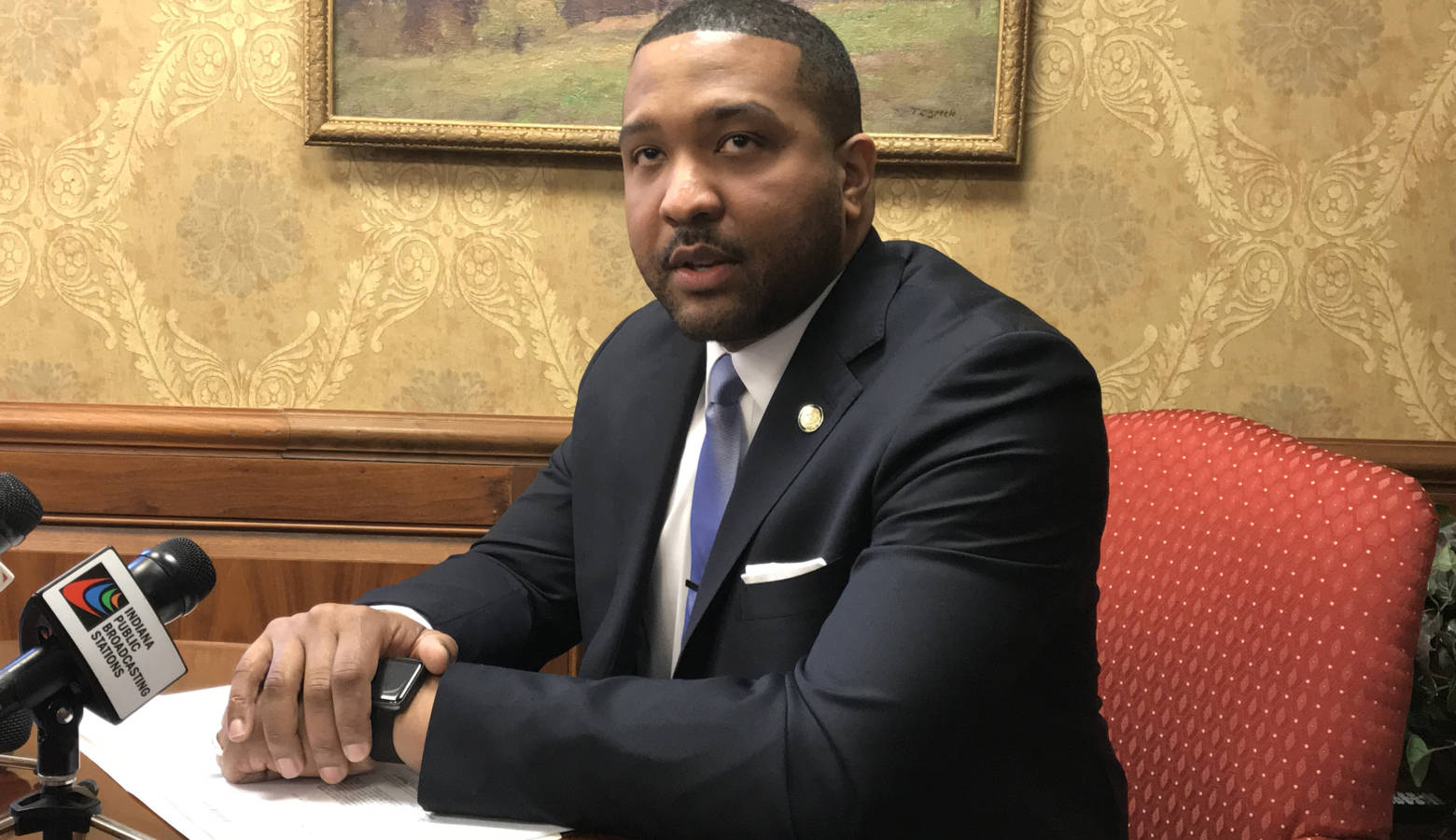 Sen. Eddie Melton (D-Gary) formed an exploratory committee for a gubernatorial bid. (FILE PHOTO: Brandon Smith/IPB News)