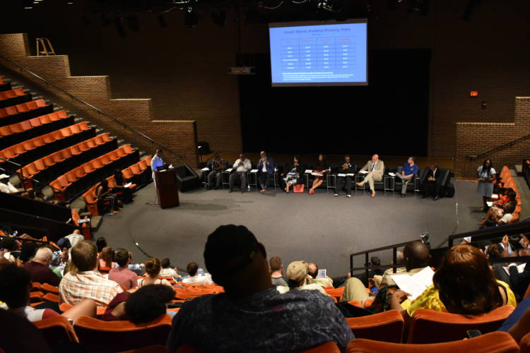 A panel discussion on minority communities and inequality in South Bend on July 14, 2019. (Justin Hicks/IPB News)