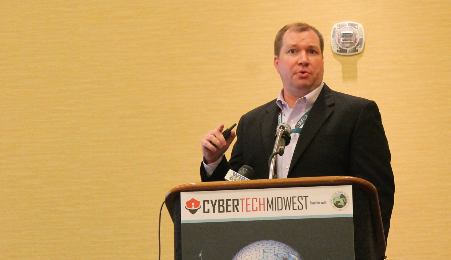 NCAA Chief Information Officer Judd Williams talks about what could qualify as sensitive data for a sports organization. (Lauren Chapman/IPB News)