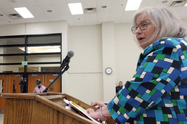 Mary Jane Lapointe, a new legal representative for the virtual schools, says the schools' administration wants as much time as possible to graduate students or find new school opportunities for them. (Stephanie Wiechmann/IPR)
