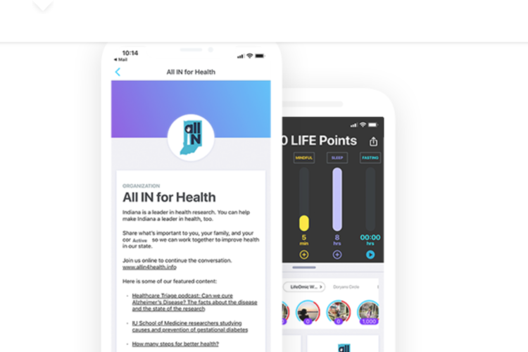 Developers say this mobile app makes choosing healthy options – like excerising, eating nutritious food and getting good sleep – like a game. (Courtesy of All IN for Health)