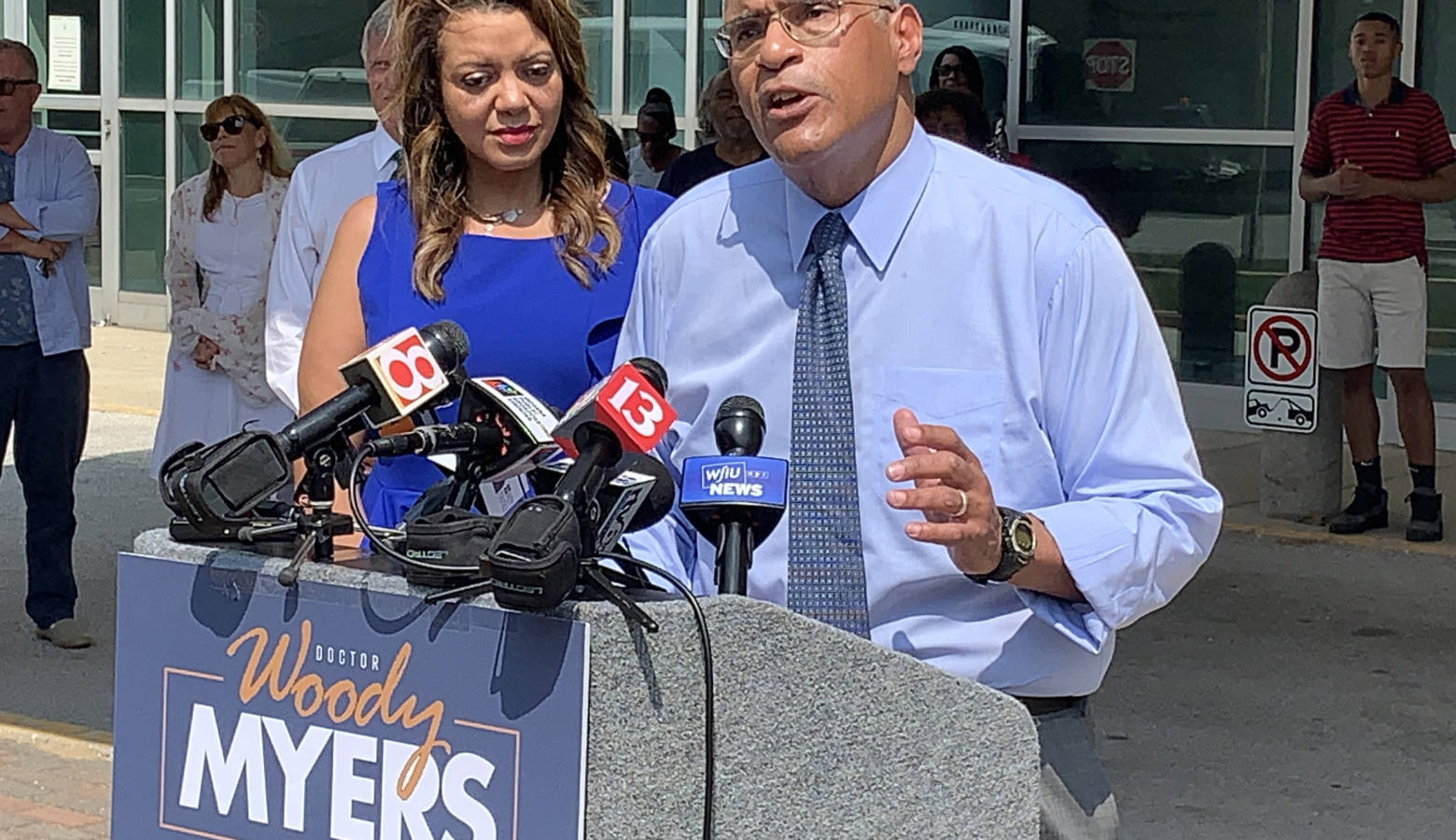 Health care executive and former State Health Commissioner Woody Myers announces his 2020 bid for governor. (Brandon Smith/IPB News)