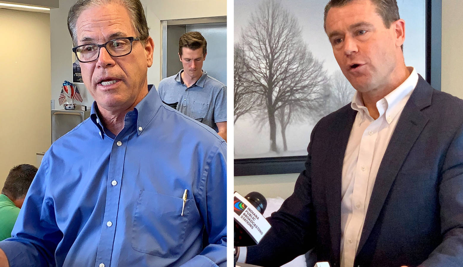 U.S. Sens. Mike Braun (R-Ind.) and Todd Young (R-Ind.). (Brandon Smith/IPB News)