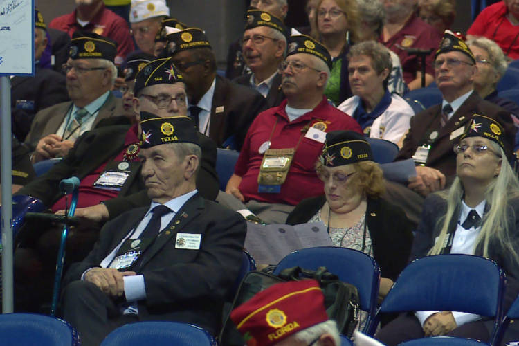 Attendees at the American Legion national convention in Indianapolis. (Lauren Chapman/IPB News)