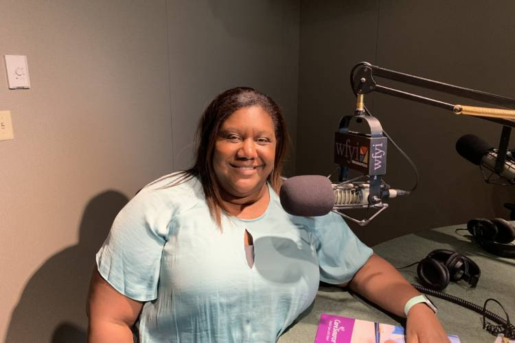 The Indiana Re-Entry Program is run by CareSource, one of the health care companies that the state contracts with to provide Medicaid. Care Source medical director Dr. Cameual Wright gave an overview of the program. (Jill Sheridan/IPB News)