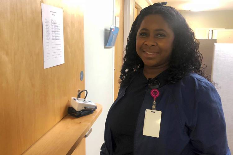 Eric Mimms is wrapping up her nursing education with Western Governors University. (Carter Barrett/IPB News)