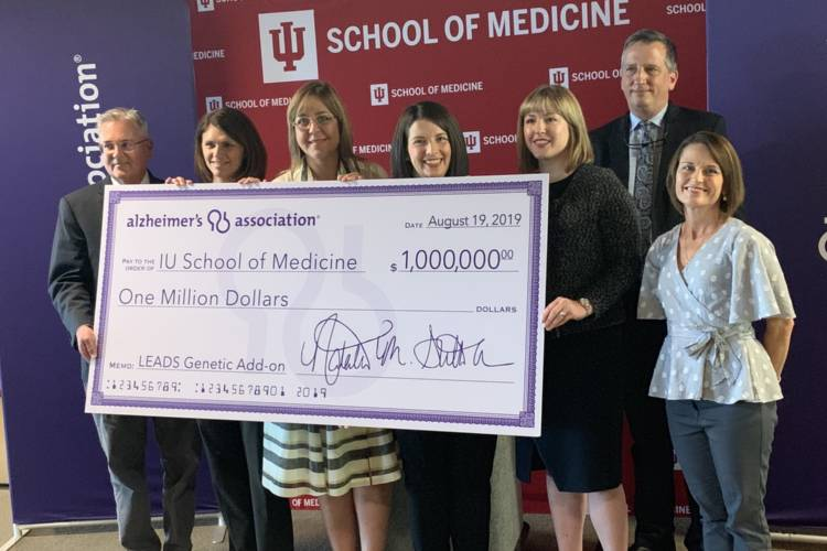The Alzheimer's Association of Greater Indiana donates funding for the study lead by Indiana University School of Medicine researchers. (Jill Sheridan/IPB News)