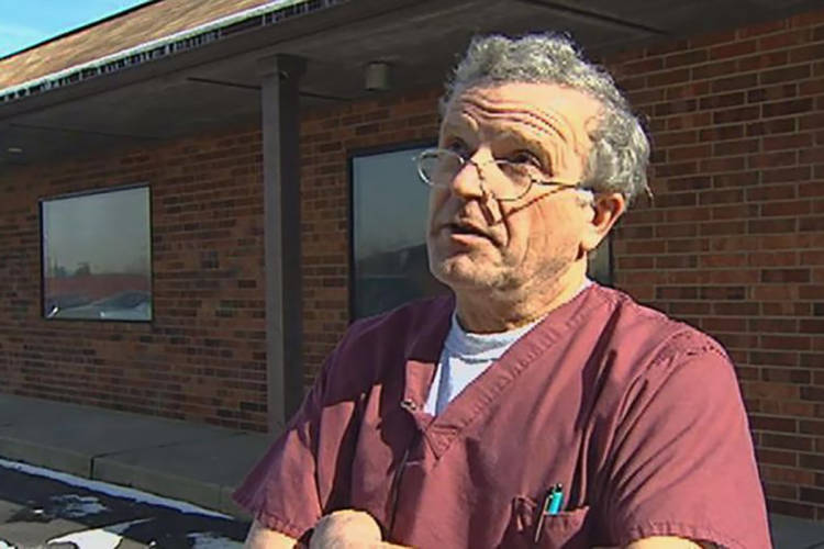 Ulrich Klopfer during a Dec. 1, 2015 interview with WNDU-TV in South Bend. After his death on Sept. 3. and his family discovered thousands of fetal remains on his property. (Courtesy of WNDU-TV)