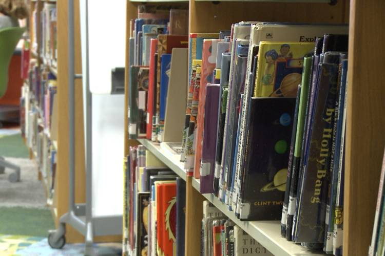 School library. (WFIU/WTIU)