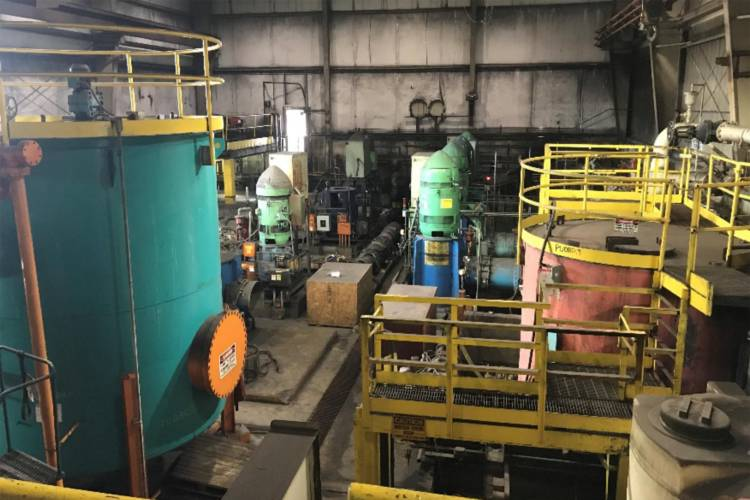 This is the room where equipment failed at ArcelorMittal's Burns Harbor facility which eventually led to the cyanide and ammonia spill in August — the blast furnace gas washing recycle system pump station. (Courtesy of IDEM)
